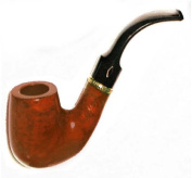 Brebbia First Pipe Kit Smooth Saddle 6007 - Full Bent Billiard Shape with Mouthpiece