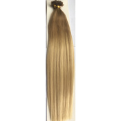 100 Strands Pre-Bonded Ombre/ Dip dye 46cm 100% Remy Human Hair Extensions Stick Tip/Nail Tip 1g