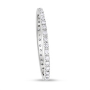 0.27 CT Natural Round Diamond Eternity Band in Solid 18k White Gold