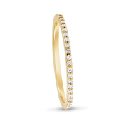 0.24 CT Natural Round Diamond Eternity Band in Solid 18k Yellow Gold