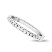 0.51 CT Natural Round Diamond Eternity Band in Solid 18k White Gold