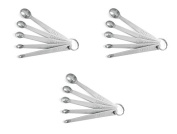 5 Pc Mini Stainless Steel Measuring Spoons, Set of 3