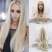 Fashion Natural Straight Wig Blonde Synthetic Lace Front Wigs For Women Heat Resistant Fibre Synthetic Hair