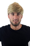 WIG ME UP ® GFW1168-24 Quality Wig for Men Gents short youthful casual combed to side ash blond 20cm inch