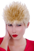 WIG ME UP ® GFW386-24A Lady Quality Wig short spikey backcombed 80s style hair blond