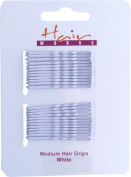 Hairgrips Kirby Bobby Hair Styling & Design Clip Bun Pins Medium White Pack Of 6