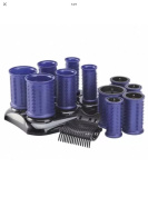 T-H-X Total Hair Experts roll it with 12 rollers heated rollers. 3 Sizes.