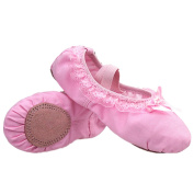 MISS BABY Kid Girl's Classic Lace Ballet Dance Yoga shoes