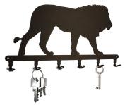 Lion - Key Holder, Hooks, Hanger, Metal, Black