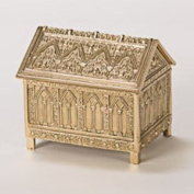 Traditional Church Tabernacle Key House - Relic Box - Brass Relic Shrine - Chalice
