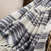 BDUK Solid-Stripe Knitting And Thread Blanket Office Lunch Blankets From The Leisure And Warm Shawl Blankets Sofas And