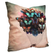 Home Couch Sofa Pillow Case Cushion Balloon Cover Butterflies