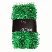Christmas Tree Decoration 15m x 3cm Tinsel Great Value - Green