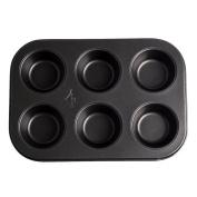 Andux 6-Cavity Non Stick Bakeware Moulds Cupcake Pans MFDGM-01