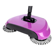 Gycinda Hand Push Home Floor and Carpet Sweeper without Electricity Dustpan and Trash Bin 3 in 1