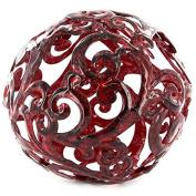 Red Fancy Metal Decorative Sphere