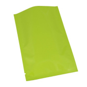 100PCS Glossy Green Metallic Mylar Foil Open Top Bags 8x12cm