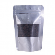 100PCS Silver Patterned Stand-Up Ziplock Bags w/Window 10x15cm