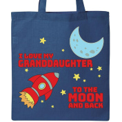 Inktastic I love My Granddaughter to the Moon and Back Tote Bag Royal Blue