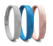 Bands for Fitbit Flex 2, Replacement Soft Silicone Watchband Adjustable Strap Accessories Band with Metal Buckle Clasp for Fitbit Flex 2 Heart Rate and Fitness Wrist Band