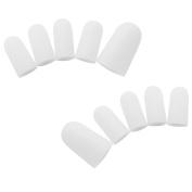Homgaty 10 Piece Gel Toe Caps Cover Soft Protectors Prevent Blisters Corns Pain Relief