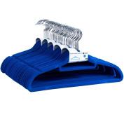 Home Discount Set Of 50 Non-Slip Velvet Coat Hangers In Blue