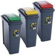 blue 25 litre recycling bin