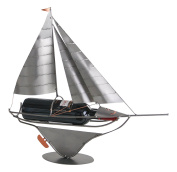 H & K Sculptures Sailboat Wine Caddy, , null