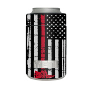 Skin Decal Vinyl Wrap for Yeti Colster Can Stickers Skins Cover / Thin Red Line Subdued Distressed American Flag U.S. Fire Axe Courage Firefighter EMT