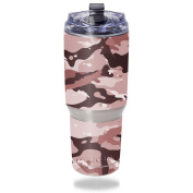 MightySkins Protective Vinyl Skin Decal for Pelican Tumbler 950ml wrap cover sticker skins Brown Camo