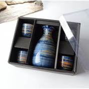 5 PCS Japanese Liquor Sake Set Porcelain Traditional Ceramic Cups Crafts Temperature Wine Glasses-A20