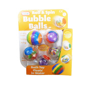 Babies Roll & Spin Activity Bath Toy Bubble Balls - Pack Of 5 - Suitable From Birth