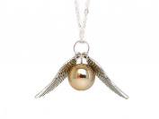 SILVER Retro Double Angel Winged with Faux Golden Pearl Necklace & Bracelet Set