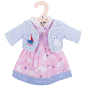 Bigjigs Toys Pink Polar Bear Rag Doll Dress and Cardigan for 38cm Soft Doll - Suitable for 2+ Years
