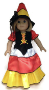18 Doll Clothes fits American girl Dolls Candy Corn Witch Gown & Hat by Dori's Boutique