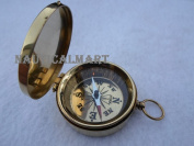 Magnetic Camping Hiking Brass Pocket Compass By Nauticalmart