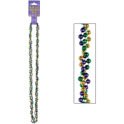 Mardi Gras Braided Beads (gold, green, purple) Party Accessory
