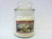 Small 90ml (85g) Glass Jar (VANILLA BEAN) Scented Natural Soy Blend Candle + 1 FREE Some Scents Fragrant Sachet BY MAKBROS