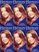 SIX PACKS of Harmony Hair Colour Cherry Auburn 17ml
