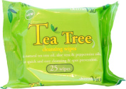 Skin Care Tea Tree Easy Cleansing & Spot Prevention X25 Face Wipes Pack Of 12