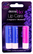 Derma V10 Lip Care Soften Soothes & Protect Skin Lips Balm 3x Pack Of 12