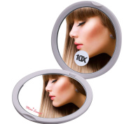 Miss Sweet Compact Mirror with Magnification Pocket Mirror,True image & 10X magnification