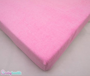 Waterproof Terry Towelling Fitted Sheet Mattress Protector, To Fit Cot Mattress 120x60cm - PINK