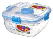 Sistema To Go Collection Salad to Go Food Storage Container, 1090ml, Blue