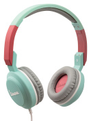 Tribe Vespa POP On-Ear Stereo Headphones with Microphone - Acquamarina