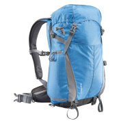 Mantona Elements outdoor backpack (with removable camera bag for DSLR cameras incl. rain cover / laptop compartment / tripod holder) blue