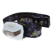 VANKER USB Rechargeable LED Head Torch - Super Bright, Waterproof, Lightweight & Comfortable - Headlamp Perfect for Running, Walking, Camping,USB Cable Included