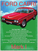 Ford Capri GT Mark 1, Classic/Vintage Sports Car Large Metal/Steel Wall Sign
