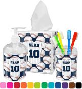 Baseball Jersey Bathroom Accessories Set