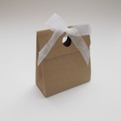10 x Kraft Box Bag Wedding Favour Boxes